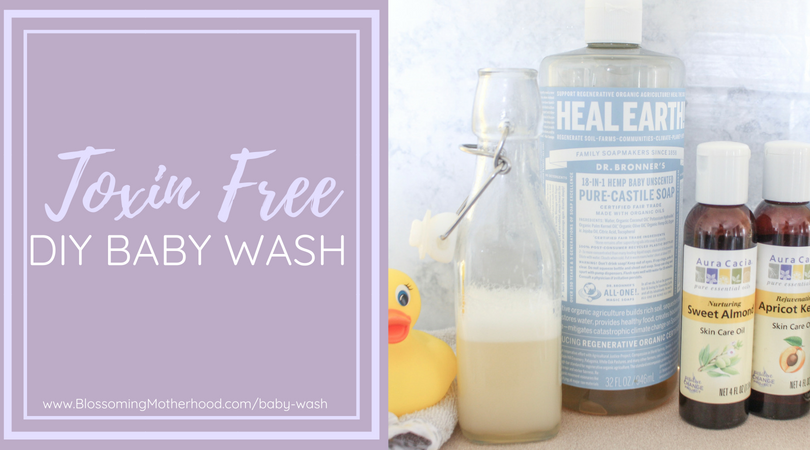How to make a toxin-free baby wash for your infant at home. Simple, natural ingredients to keep your baby clean and toxin free!