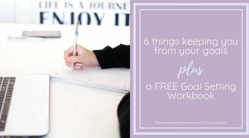 Do you want to accomplish your goals? Read my post about 6 things that can be holding you back from reaching yoru goals and a free goal setting workbook!