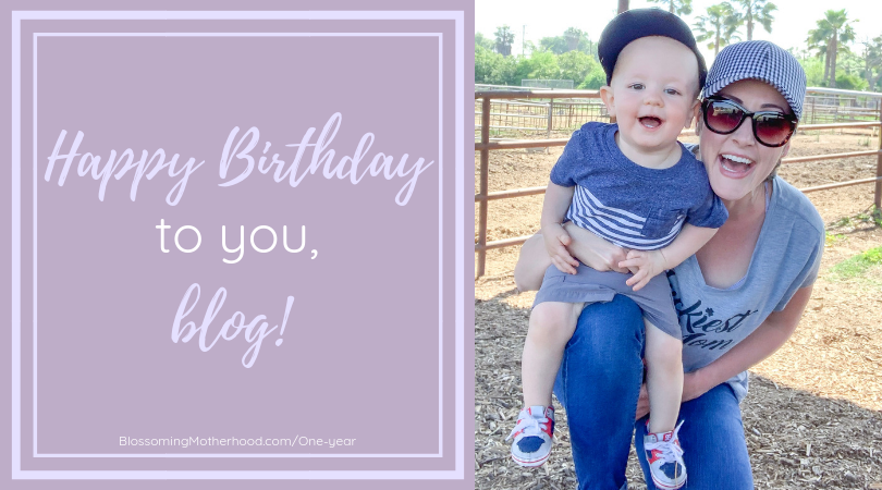 blogging for one year at Blossoming Motherhood. Sharing my journey as a natural minded, crunchy mom.