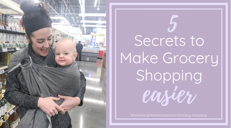 5 secrets for making grocery shopping easier for those of you who are looking to create a healthier lifestyle in your home. Tips for eating better