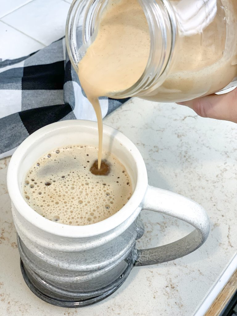 dairy-free pumpkin spice creamer. easy DIY coffee creamer pumpkin spice