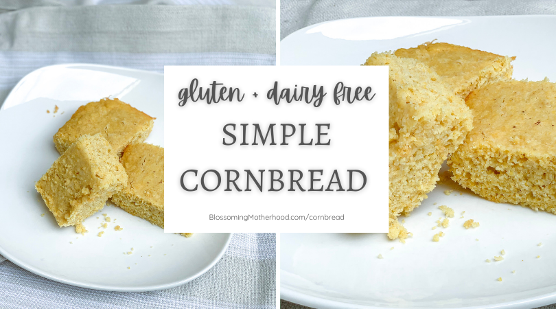 Today I am sharing an easy, dairy-free cornbread recipe with you to make for your family's Thanksgiving dinner. Dairy free and refined sugar free cornbread.