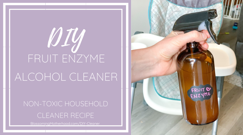 How to make your own fruit enzyme cleaner using simple ingredients. DIY Non-toxic all purpose cleaner.