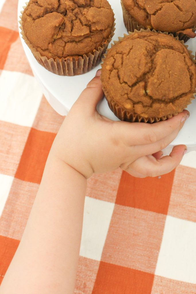 Gluten free pumpkin sourdough muffin recipe makes moist, cake like muffins full of fall flavor. This recipe is entirely gluten and dairy free. pumpkin recipes for kids.