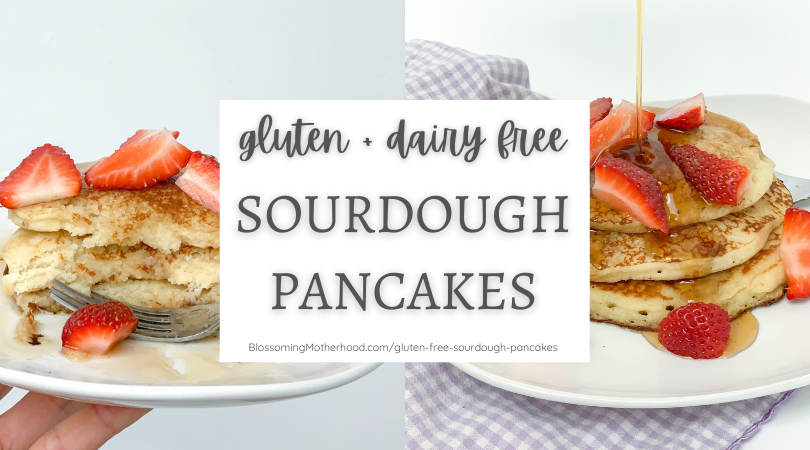 These gluten free sourdough pancakes are simple to make, fluffy, and so delicious! Also, a free gluten free sourdough starter guide.