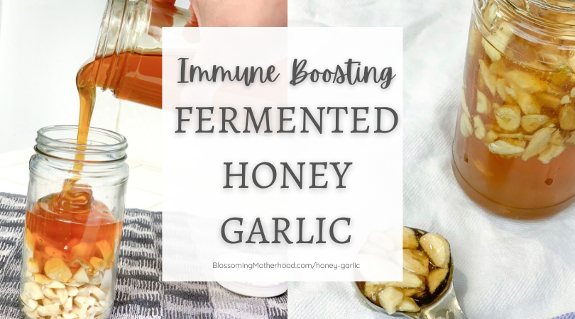 Natural ways to support the immune system and a natural remedy for colds and sinus infections. Honey garlic is so simple to make. natural cold and flu remedies.