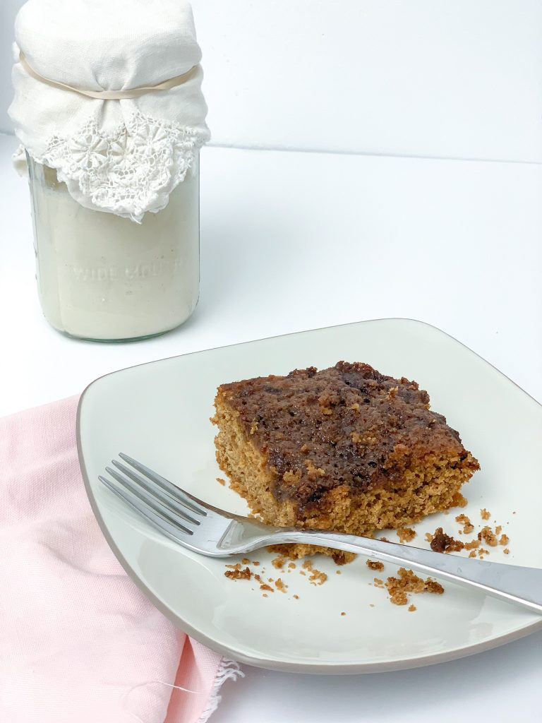 Gluten Free sourdough coffee crumb cake is a staple in our home. This coffee cake is a great gluten free recipe for coffee cake. Gluten free sourdough recipes.