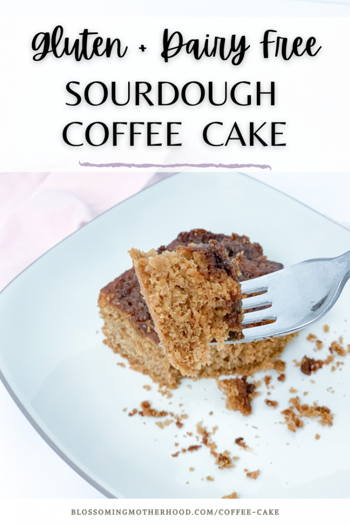 Gluten Free sourdough coffee crumb cake is a staple in our home. This coffee cake is a great gluten free recipe for coffee cake. Gluten free sourdough recipes. How to make a gluten free sourdough starter.