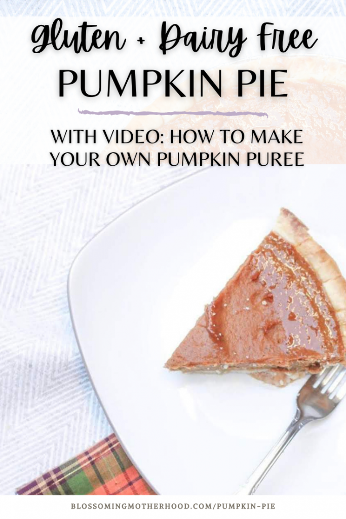 Gluten free and dairy free pumpkin pie recipe is simple to make. Homemade dairy and gluten free pumpkin pie is perfect for Thanksgiving. Whole 30 approved pumpkin pie recipe. Simple paleo pumpkin pie recipe. How to make dairy free pumpkin pie from scratch.