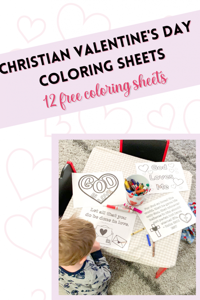 Christian Valentine coloring sheets are sure to bless your family this season. 11 free Valentine's Day coloring sheets with Bible verses.